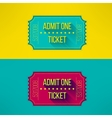 Entry ticket in modern flat design with long vector image