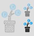 euro tree pot mesh carcass model and vector image vector image