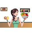 fitness girl vector image