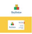 flat alphabets blocks logo and visiting card vector image vector image
