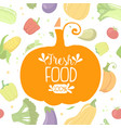 fresh food banner template with farm vegetables vector image