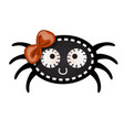 funny black spider with contours in the form of vector image vector image