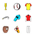 game ball icons set cartoon style vector image vector image