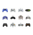 gamepads icon set in flat style vector image vector image