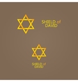 golden Magen David vector image