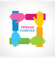 happy friendship day greeting stock vector image vector image