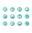 House climate technics blue round icons vector image vector image