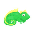 iguana cartoon lizard animal character green vector image