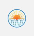 lake logo design vector image