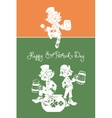Leprechaun greeting Happy St Patrick Day vector image vector image
