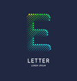 letter e latin alphabet display vector image