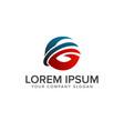letter g logo global logo design concept template vector image vector image