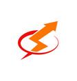light bolt voltage arrow logo vector image vector image