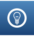 Light bulb icon lamp vector image vector image