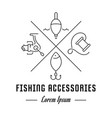 line banner fishing accessories vector image