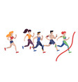 marathon running jogging men and women vector image