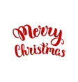 Merry Christmas lettering vector image vector image