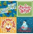 Mery Christmas greeting card design vector image