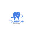 modern tooth logo design vector image vector image