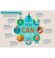 Motivation Infographics Set vector image vector image