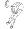 outlined football kid vector image