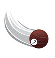pool ball icon with an effect vector image vector image