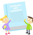 readers are leaders vector image vector image