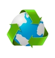 Recycling Earth concept Realistic of vector image vector image