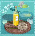 rice bran oil used for frying food vector image vector image