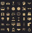 round clock icons set simple style vector image vector image