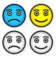 sad and happy smileys vector image