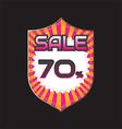 sale discount vector image vector image