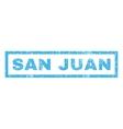 San Juan Rubber Stamp vector image vector image