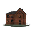 scary abandoned wooden house with boarded up vector image vector image