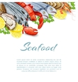 Seafood Products Background vector image vector image