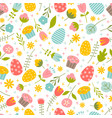 seamless background on easter theme vector image