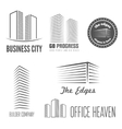 Set of logo and sticker emblem label and vector image
