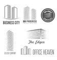 set of logo and sticker emblem label vector image