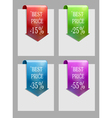 Set of sale or discount labels vector image vector image
