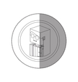 silhouette sticker lego with portrait female judge vector image vector image