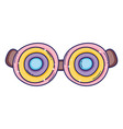 silly funny glasses vector image