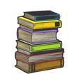 stack books sketch vector image