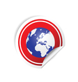 sticker planet red vector image vector image
