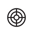 target with arrow - black icon onwhite background vector image vector image