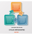 template with text areas on 3 positions vector image vector image