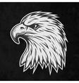 Terrible eagle head in profile vector image vector image