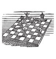 the chess vintage vector image