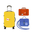 travel tourism fashion baggage or luggage vacation vector image