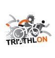 triathlon racers vector image vector image