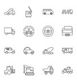 truck icons vector image vector image